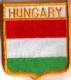 Hungary Embroidered Flag Patch, style 06.